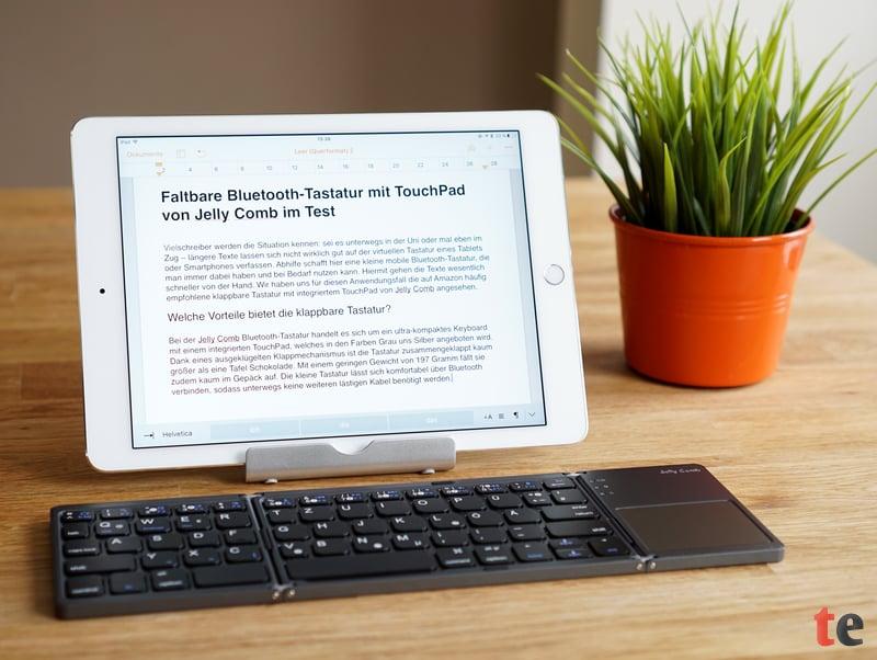 Jelly Comb faltbare Bluetooth-Tastatur mit TouchPad