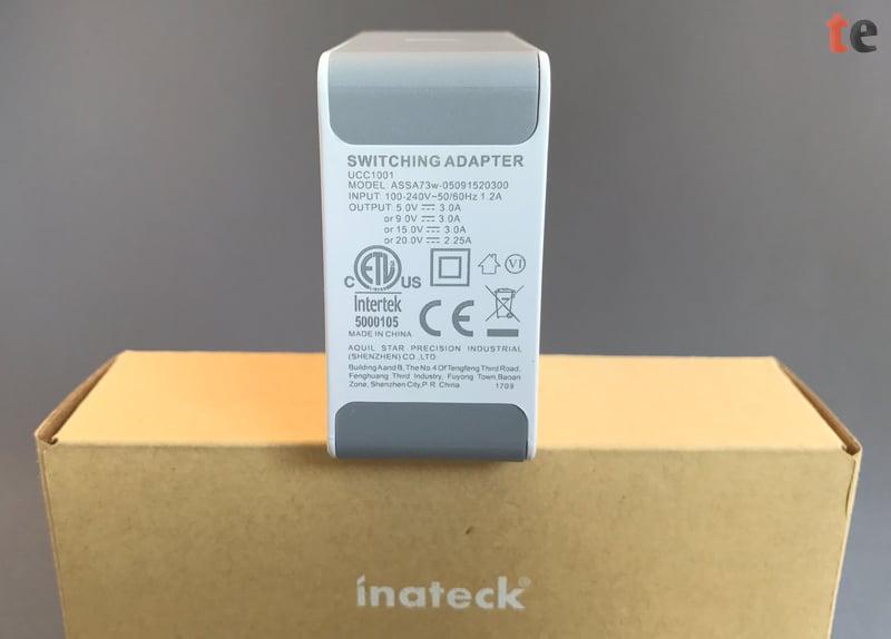 Der Inateck USB-C Netzstecker unterstützt mehrere Power Delivery Profile und lässt sich daher sehr flexibel zum Aufladen von verschiedenen Gerätetypen verwenden, wie z.B. für Smartphones, Tablets und Notebooks.