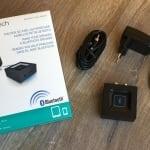 Logitech Bluetooth Audio Adapter mit Zubehör und Verpackung