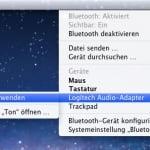 Logitech Wireless Speaker Adapter:  als Audiogerät über die Bluetooth-Einstellungen von Mac OS X zu finden