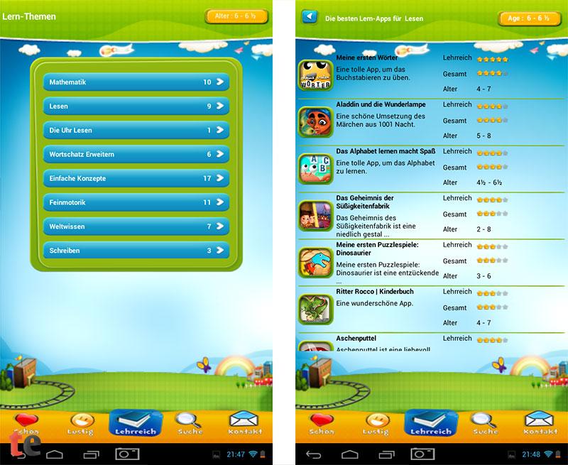 Die Anwendung Look Mommy! bietet eine vielseitige Übersicht ausgesuchter Lernspiele mit pädagogischem Wert, die sich auf dem Odys Pedi Plus installieren lassen.