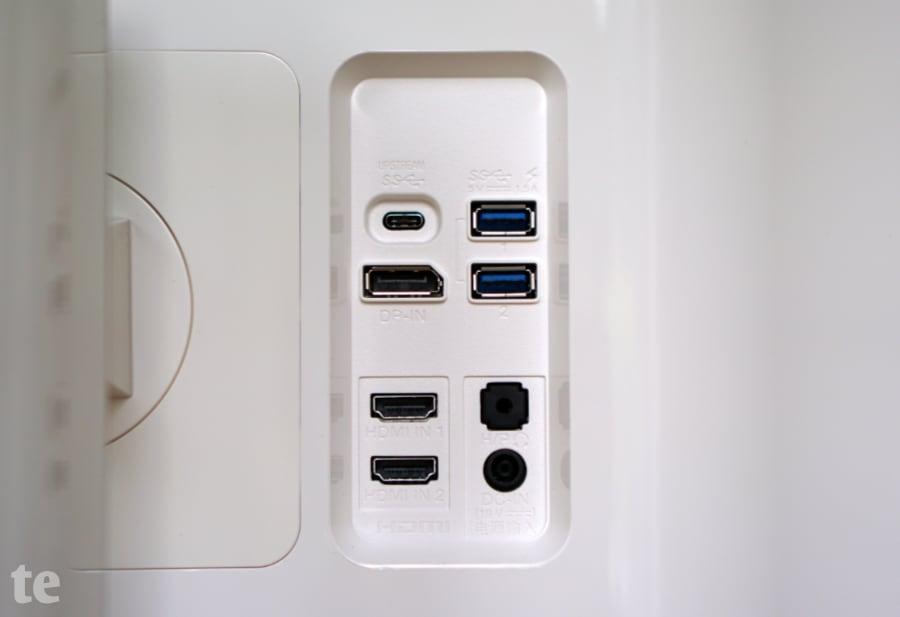 Anschlussbuchsen des LG 32UD99-W UHD-Monitors