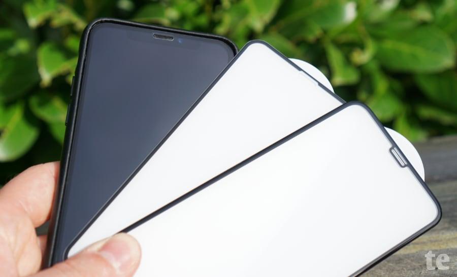 iPhone-Panzerglas mit hohem Echtglas-Anteil