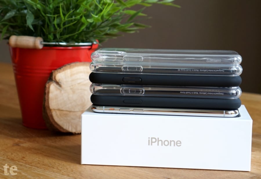 iPhone X Schutzhüllen Testfeld